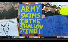 13 funniest 'College GameDay' signs from Army-Navy College Football, College Gameday Signs, Fan Signs, Carthage, Army & Navy, College Humor, Military, Funny