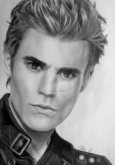 WOW!  Incredible drawing of Paul Wesley aka Stefan Salvatore, The Vampire Diaries by the uber talented Mim78 on deviantART