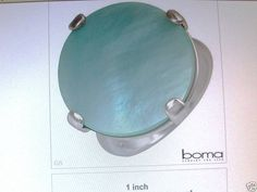 BOMA VIBRANT BRAND NEW SOLITAIRE RING MOTHER OF PEARL
