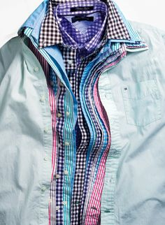 WOW Factor: Bold Buttondowns. Tommy Hilfiger #mens #shirts BUY NOW!
