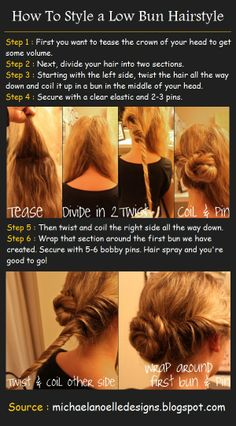 How To Style a Low Bun Hairstyle | Pinterest Tutorials