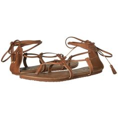 Billabong Around the Sun Sandal (Desert Daze) Women's Sandals ($30) ❤ liked on Polyvore featuring shoes, sandals, laced up gladiator sandals, gladiator sandals, greek sandals, strappy gladiator sandals and gladiator sandals shoes