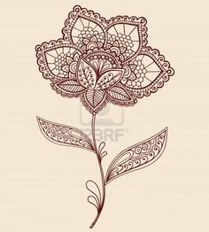 Flower Lace Tattoo. Probably my favorite design... Need to cover up the one on my wrist. This would be pretty with lots of color