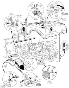 1997 club car gas ds or electric - club car parts & accessories