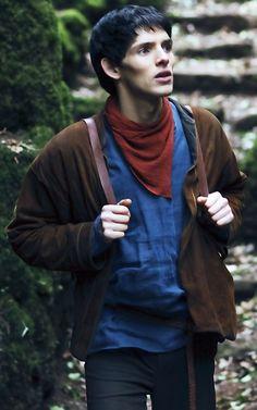 Merlin and his cheekbones.
