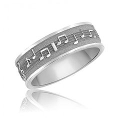 Custom Music Note Wedding Bands Original Real Notes Ring Sterling Sheet Nerd Rings Geekery Personalize Geek Chic