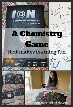 A Chemistry Game that makes learning fun - The Homeschool  Scientist http://thehomeschoolscientist.com/chemistry-game/