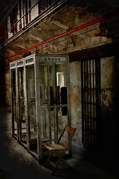 prison phone booth