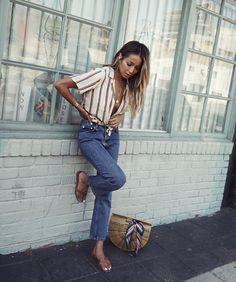 Shop_sincerelyjules Street snap. ❤️ | Shop our Jackie top x Nicolette jeans: