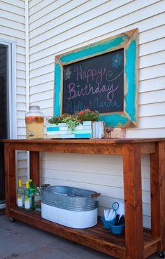 Always Chasing Life: Outdoor Chalkboard