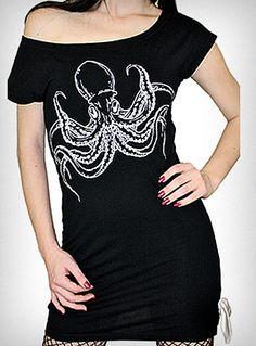Overt Octopus Tunic Tee $33