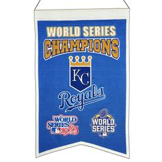 MLB Baseball Kansas City Royals 14x22 Heavy Wool with Embroidery Sport Team Logo World Series Champions Banner #2012 -- Awesome products selected by Anna Churchill