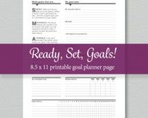 Goal Planning Printable - Standard Letter Size -  by SassyPlanners