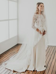 Beautiful cathedral veil with blusher