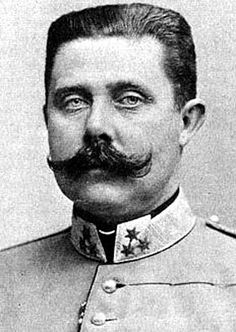 Franz Ferdinand . Archduke of Austria-Este, Austro-Hungarian and Royal Prince of Hungary and of Bohemia, and from 1889 until his death, heir presumptive to the Austro-Hungarian throne. His assassination in Sarajevo precipitated Austria-Hungary's declaration of war against Serbia. This caused the Central Powers (including Germany and Austria-Hungary) and the Allies of World War I (countries allied with Serbia or Serbia's allies) to declare war on each other, starting World War I.