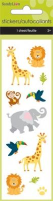 Zoo Animals  Foam Slim Stickers at theBIGzoo.com, a family-owned toy store.