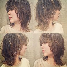 Saved ideas for Barbara Stacked Bob Hairstyles, Fringe Hairstyles, Layered Haircuts, Love Hair, Great Hair, Medium Hair Styles, Short Hair Styles, Mullet Hairstyle, Corte Y Color