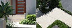 Modern Limestone garden paving