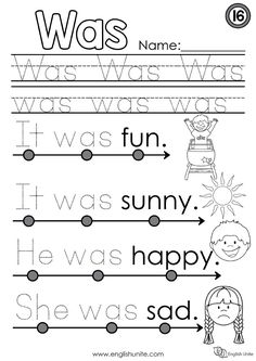 Download free Dolch sight words worksheets for pre-k or