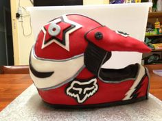 Motorbike helmet cake!