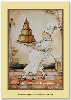 Bakker met taart | Midden formaat | Anton Pieck winkel