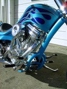 BlueFlames4 Custom Motorcycle Harley Davidson Motorcycles, Custom Motorcycles, Custom Paint Motorcycle, Custom Harleys, Scrambler, Choppers, Bobber, Hot Rods, Old School