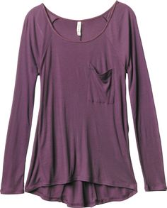 a long sleeve, raglan sleeve top
