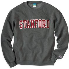 1307F Stanford Crewneck Sweatshirt | Stanford University ❤ liked on Polyvore featuring tops, hoodies, sweatshirts, shirts, sweaters, crew neck top, twill shirt, crew top, crew-neck sweatshirts and crew neck shirt