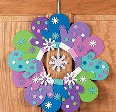 Paper Craft Wreath.