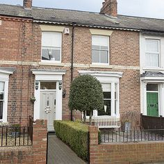 Look around this beautifully light and neutral home in County Durham - New Ideas 1930s House Exterior, Terrace House Exterior, Victorian Terrace Interior, Georgian Terrace, Victorian Townhouse, Victorian Homes, Durham, House Front Door, Facades