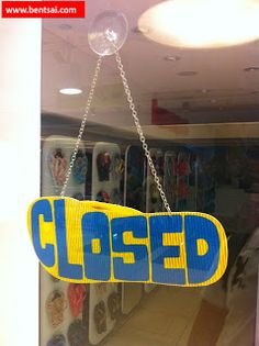 Rad -Store Closed- sign in the shape of sandal   #HavaianasSandalsSingapore Ideas Retail Sandals Signs Singapore