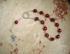 Eupheme Pocket Prayer Beads: Greek Goddess of Praise and Triumph by HearthfireHandworks on Etsy