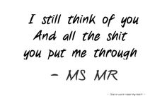 """Ms Mr """"think of you"""""""