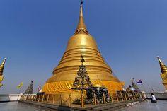 Chedi of the Temple of the Golden Mount | Bangkok by I Prahin | http://ift.tt/NEk7up