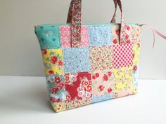 Tote  Pouch with Handles  Girl's Purse  Girl's Tote  by GabryRoad