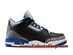 factory authentic 4c798 a17fb Air Jordan 3(III) Retro Chaussures Basket Jordan Pas Cher Pour Homme Sport  Blue 136064-007