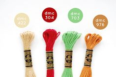 Color Combo Autumn Brights by wild olive. Update: The orange color is actually Cross Stitch Thread, Cross Stitching, Cross Stitch Embroidery, Dmc Embroidery Floss, Ribbon Embroidery, Embroidery Patterns, Cross Stitch Designs, Cross Stitch Patterns, Wild Olive