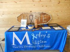 A sample of the awards and items of recognition that have been received by Marley's Mission since it's 2009 founding were on display at the dedication event.
