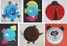 Lo zoo è servito! Trasformiamo dei piatti di carta in simpatici animali - Io gioco all'Arte