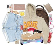 """Savage"" by lexiii-caniff ❤ liked on Polyvore featuring Louis Vuitton, Felony Case, Puma, Alexander McQueen, Lilly Pulitzer, Kate Spade, Urban Decay, tarte and Cherokee"
