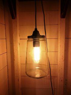 Luminária pendente feita com pote de vidro - DIY Lush