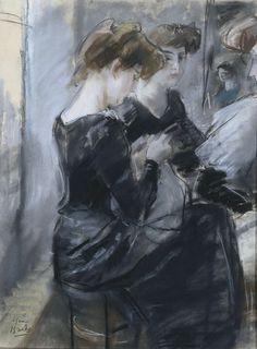 Modistenatelier, Isaac Israels, 1875 - 1919