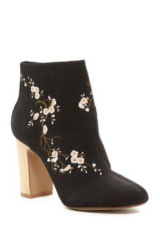 5ffec2adc4da NANETTE nanette lepore - Belize Embroidered Ankle Boot French Women Style,  Bootie Boots, Ankle