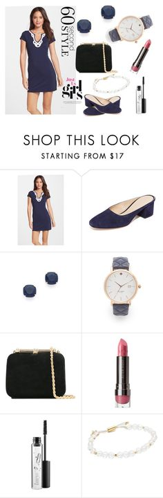 """""""Spot on"""" by hillarymaguire ❤ liked on Polyvore featuring Lilly Pulitzer, Club Monaco, Kate Spade, Loriblu, LORAC, MAC Cosmetics, Gorjana, tshirtdresses and 60secondstyle"""