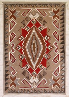 Lucy Begay - One of a Kind Navajo Rug. This and more important textiles for sale on CuratorsEye.com