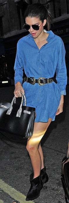 Kendall Jenner: Belt – B-Low Shoes – One Teaspoon Sunglasses and purse – Saint Laurent shirt – BLQ