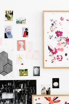 Melbourne artist Kirra Jamison's wall (shot by Derek Swalwell & styled by Jason Grant) for Inside Out Magazine (Jan/Feb '13 issue)