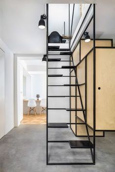 Awesome Stairs Design Home. Now we talk about stairs design ideas for home. In a basic sense, there are stairs to connect the floors Black Staircase, Loft Staircase, Staircase Railings, House Stairs, Staircase Design, Stair Design, Staircase Remodel, Staircase Ideas, Staircases