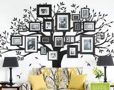 Family Tree Wall Decal by Simple Shapes - Large Tree Decal - Wall Decor - Wall Decals & Murals - Bla Family Tree Decal, Family Wall, Family Room, Bird Wall Decals, Tree Decals, Wall Sticker, Wall Art, Wall Mural, Inspiration Wand