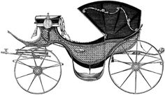A Barouche, a curious object for Jane Austen fans. Here is a blog post about carriages in Pride and Prejudice, lots of fun! The blogger points out that 'carriage' and 'marriage' rhyme . . .  interesting!